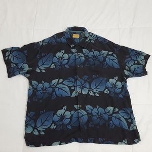 Tommy Bahama Hawaiian Shirt Mens XXL 100% Silk
